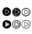 play button icon with hand drawn doodle style vector image vector image