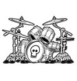 rock drum set cartoon vector image vector image