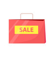 sale bag with title and handle vector image vector image