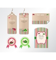 set of tags stickers and cards vector image