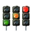 set of traffic lights isolated on white vector image vector image