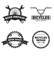 Set of vintage and modern bike shop logo badges vector image vector image
