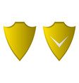 shield flat icon security icon vector image vector image