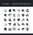 simple icons cancer survivors day vector image vector image