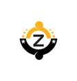 success life coaching initial z vector image vector image