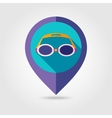 Swimming Goggles flat mapping pin icon