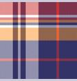 tartan plaid pattern background blue red orange vector image vector image