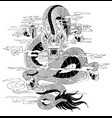 tattoo dragon draw vector image vector image
