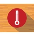 thermometer isolated flat shadow vector image vector image