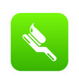 toothbrush icon green vector image vector image