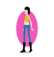 trend girl vector image vector image