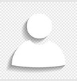 user sign white icon with vector image vector image