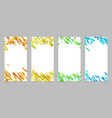 Vertical banner template set with colored vector image