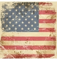 Vintage card with American flag