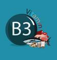 vitamin b3 vector image vector image