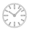 watch dial with hands from abstract futuristic vector image vector image