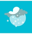 Weather snowflake icon vector image vector image