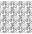 zentangle stylized seashell and other sea vector image