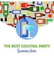 summer time banner for cocktail bar vector image