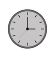 monochromatic clock time watch work icon vector image