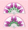 two asian folding paper fans vector image