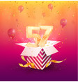 57th years anniversary design element vector image vector image