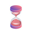 a hourglass isolated on white background vector image vector image