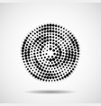 abstract dotted circles dots in circular form vector image
