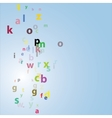 alphabet abstract background vector image