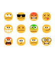 anger emoticons angry emoji set shocked and vector image vector image