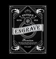 antique frame vintage border western label hand vector image vector image