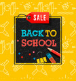 back to school sale poster and banner vector image vector image