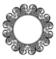 Beautiful Decorative Round Frame vector image