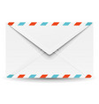 beautiful realistic paper mail envelope vector image