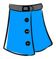 blue woman skirt on white background vector image vector image