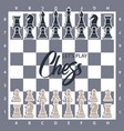 chess board with figures wector of vector image vector image
