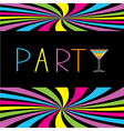 Colorful cocktail party card Martini glass vector image vector image