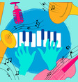 colorful music instruments design vector image vector image