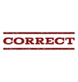Correct Watermark Stamp vector image vector image