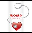Creative World Heart Day Greeting vector image