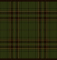 dark green tartan plaid scottish pattern vector image vector image