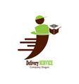 delivery service logo design vector image vector image