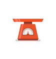 domestic weigh scales flat icon vector image