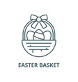 easter basket line icon linear concept vector image