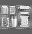 empty plastic and transparency packages vector image