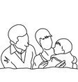 family couple with their baby vector image vector image