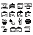 Farmers market food market with fresh local vector image