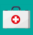 first aid kit plastic bag for medicine vector image vector image