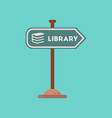 flat icon on background sign library vector image vector image