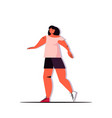 girl doing physical exercises healthy lifestyle vector image vector image